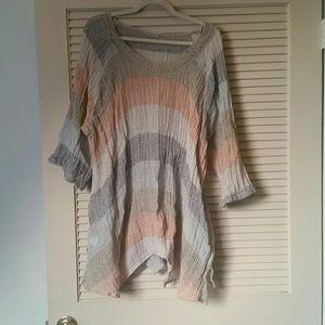 Mastro Moda linen cover up top blouse